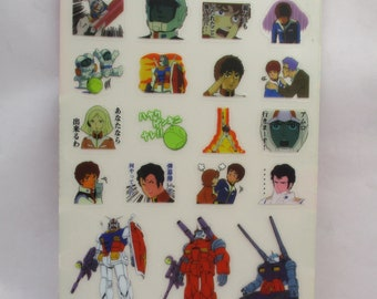 "Exclusive  Japanese ""Moblie Suit Gundam"" This  Most Popular Anime Movie 3 stickers collection"