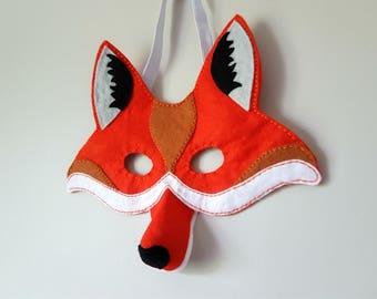 PDF Pattern Felt Fox Mask Halloween Costume Kids Dressing Up Fancy Dress Holiday Costume