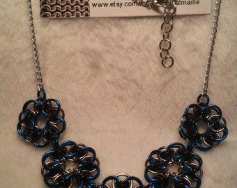 """Helm Flower Necklace 18.5""""-20"""" adjustable"""