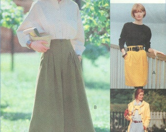 1991 Misses' Tapered Skirt, Split Skirt or Culottes and Pants Uncut Factory Fold Size 12, 14, 16 - Vogue Sport Sewing Pattern 8148