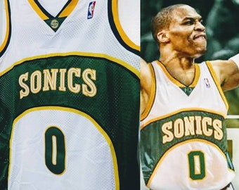2628036c65d0 Rare NBA Draft Russell Westbrook Seattle Super Sonics Home Jersey