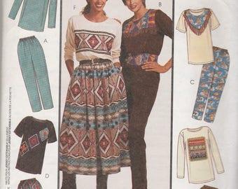 McCalls 7369 Vintage Pattern  Womens Tunic Top, Skirt and Pants Size Lg, X Lg UNCUT