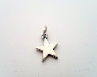 Sterling Silver Star Charm, Stampable charm, Stamping Blank, Sterling Charms SS210