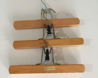 Vintage Wooden Hangers/ Oak Hanger/Made in Germany/Mid Century Oak Hangers/By Gatormom13