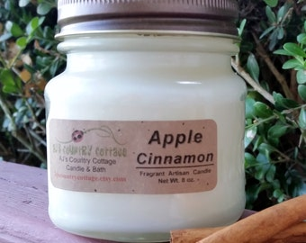 APPLE CINNAMON CANDLE - Apple Candles, Cinnamon Candles, Classic Candles, Popular Candles, Scented Candles, Strong Candles, Rustic Decor