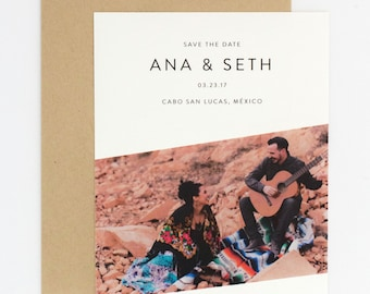 Wedding Photo Save the Date - Bright and Colorful Sarape Destination/Bohemian Wedding Photo Save the Date  (Ana Suite)