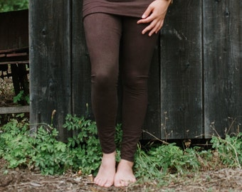 Lupine Skirted Leggings/Stretchy Hemp and Organic Cotton