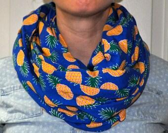 pineapple print jersey knit infinity scarf