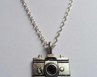 Camera Necklace , Silver Necklace , Photographer Necklace , Holiday Necklace , Travel Necklace , Handmade Jewellery , Handmade Jewelry
