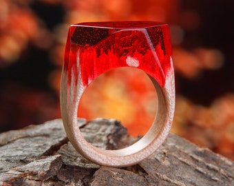 Bentwood Ring | Resin Ring | Wood Ring | Wood Jewelry | Custom Jewelry | Wooden Ring | Gifts for her