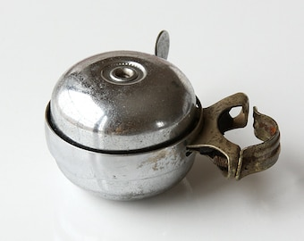 Vintage double domed Bike Bell Working bicycle ring Metal bicycle bell Mounts to handlebar Vintage bell sound Retro mid century modern