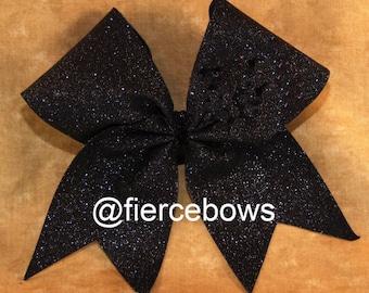 Simply Classic Black Glitter Bow