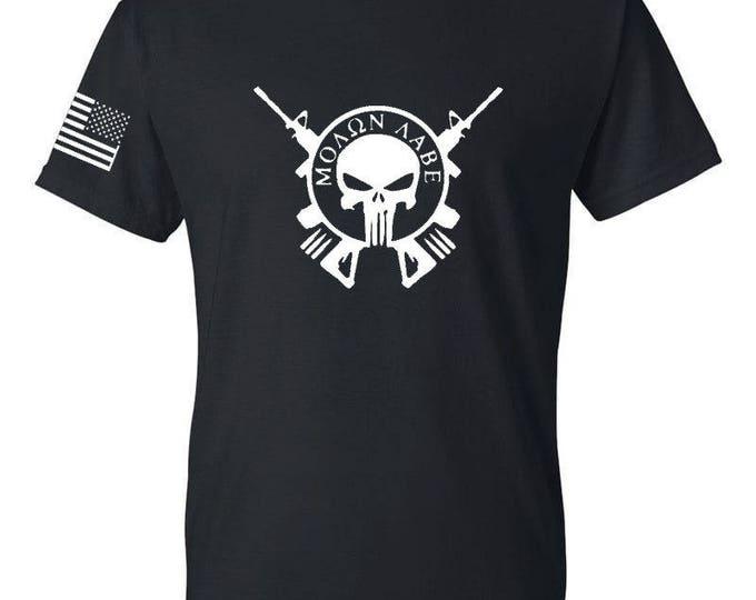 2A - Molon Labe - Three Percenter - Gym Shirt - America - Freedom - 2nd Amendment - Workout Shirt