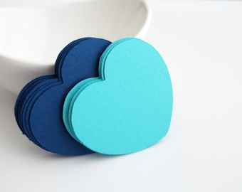 32 Die Cut heart die cuts (2.5 inches) in textured cardstock, Choose 2 colors  A169