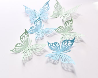 15 Butterfly Wall Stickers, Butterfly Party Decoration, Room Butterfly Decor, Paper Butterfly Wall Decor