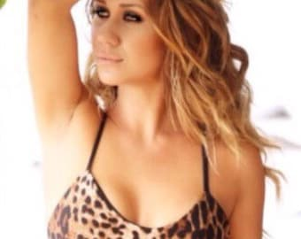 Sale- Reversible Cheetah and Black Crossback Top