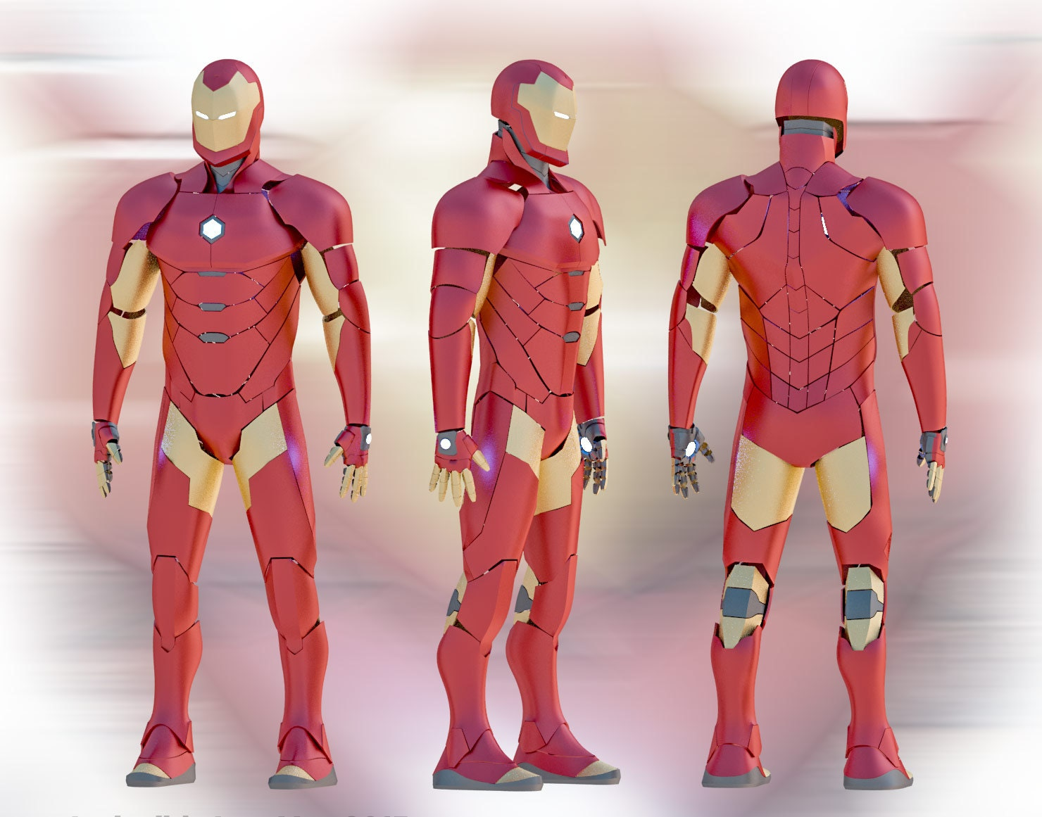 Invincible iron man 2015 suit pepakura diy zoom pronofoot35fo Image collections