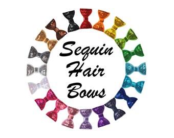 """2"""" Sequin Hair Bows"""