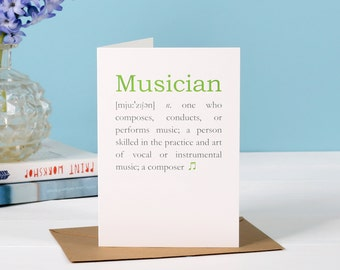 Card for musicians etsy musician definition card gift for musician card for a musician birthday card for bookmarktalkfo Image collections