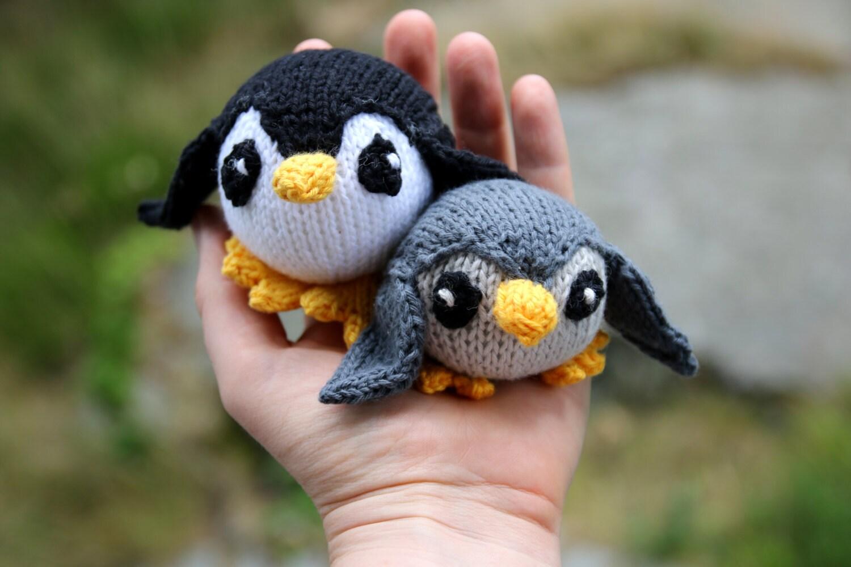 Penguin knitting pattern PDF, mobile hangers, diy gift and ...