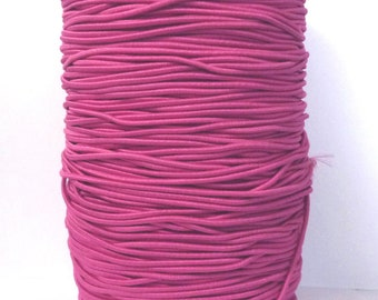 10 yd /9 meters Azalea Red Drawcord Round Drawstring Elastic Cord Rope 2mm or 1.5mm width ET15