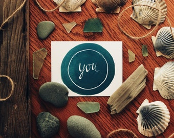 You Are My Favorite - handmade greeting card from Cape Cod