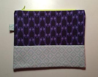 Purple arrow pouch
