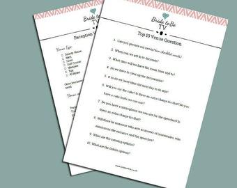 Wedding Venue Checklist and Questions