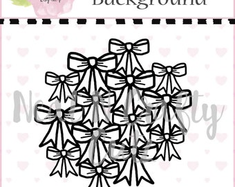 Bow Background Cut File in A4 and 12x12  for scrapbooking and paper crafting