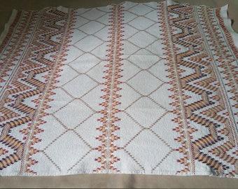 Swedish Weaving Huck Weaving Monks Cloth Lap Throw / Blanket / Table Cloth / Handmade