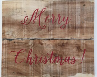 Merry Christmas, rustic, reclaimed wood, holiday, wall hanging