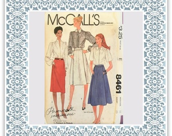 McCalls 8461 (1983) Misses' skirts with pockets - Vintage Uncut Sewing Pattern