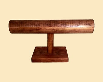 Bracelet Display Stand / Watch Stand / Solid Wood T-Bar Jewelry Display / Craft Show / Collapsible / 10 color options