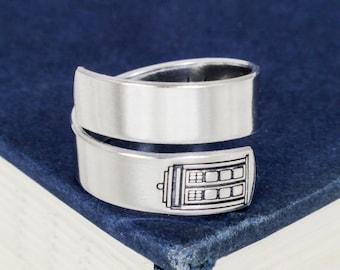 Bigger on the Inside Wrap Ring - TARDIS