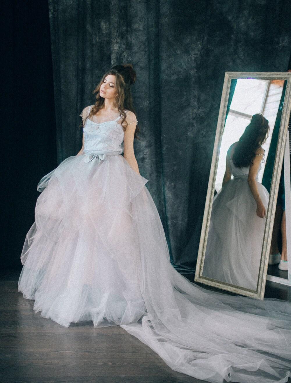 Verzierte Brautkleid bestickt Brautkleid kennenlernen
