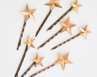 Star Bobby Pins Gold Star Jewelry Star Hair Pins Bridal Hair Star Hair Accessories  Bohemian Wedding Constellation Jewelry Celestial Sky