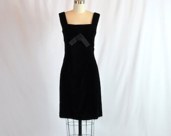 "Vintage Formal Dress | 1960s Evening Dress | Wiggle Dress | Little Black Dress | Philippe Tournaye 28"" Waist  Medium"