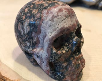 "Skull 2.0"" Leopard Skin Jasper *Carved Crystal* Realistic* Crystal Healing* Awesome"