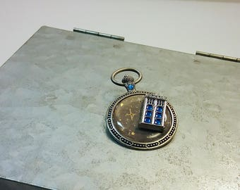 TARDIS Brooch - Doctor Who Pocket Watch Pin