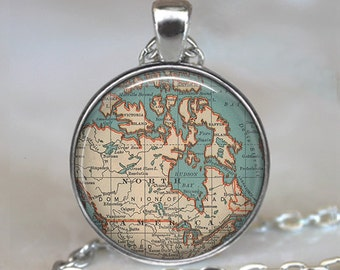 Canada map pendant, Canada map jewelry Canada jewellery Canadian map jewelry Canada map necklace key chain key ring key fob