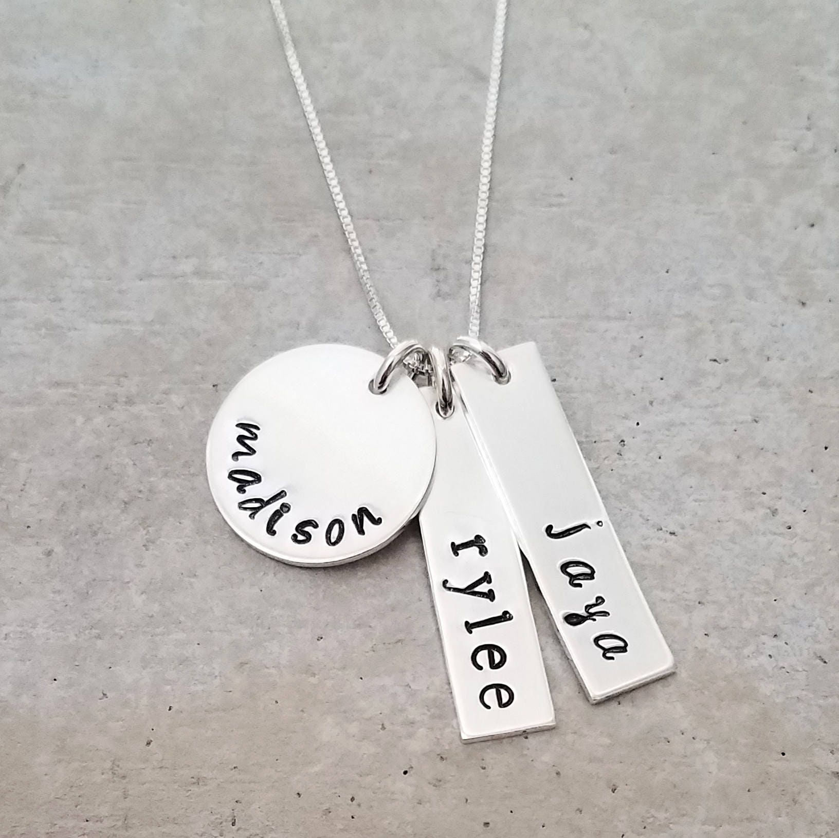 jewellery strong mom stamped tiny power jewelry shop mothers personalized once always preemie custom hand necklace