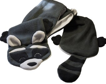 Raccoon Fleece Scarf