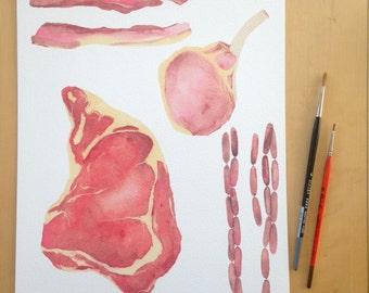 Meats Print