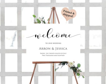 Custom Wedding Welcome Sign- Custom Wedding Sign- Welcome To Our Wedding Sign- Large Wedding Sign- Welcome Poster Board-Rustic Wedding Sign-