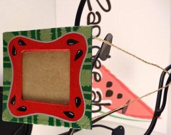 "3x3"" Watermelon Paper Mache Picture frame/M-MPFPM3X3-04"