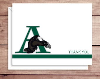 Archmere Note Cards - Auck Note Cards - Initial Note Cards - Personalized Stationery - Folded Thank You Notes - Illustrated Note Cards