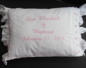 Christening Pillow, Baptism Pillow.