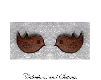 Robin Cabochons Tasmanian Myrtle Laser Cut For Earrings etc  Number Choice  Made in AUSTRALIA