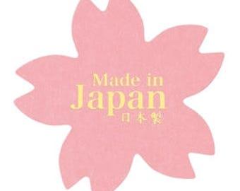sakura seal, Made in Japan seal, cherry blossom seal