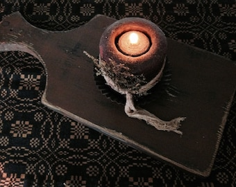 Primitive Distressed Wooden Candle Board